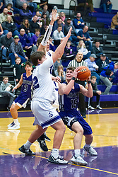 18 January 2020: !st Round Boys Basketball game Lexington Minutemen v El Paso Gridley Titans during the 109th 2020 McLean County Tournament at El Paso Gridley High School in El Paso IL<br /> <br /> Photo by Alan Look