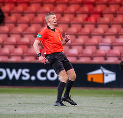 Ref Mike Roncone. Dunfermline 5 v 1 Partick Thistle, Scottish Championship game played 30/11/2019 at Dunfermline's home ground, East End Park.