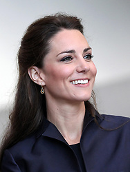 Kate Middleton watches a demonstration by students during a visit to Darwen Aldridge Community Academy, Darwen, Lancashire.