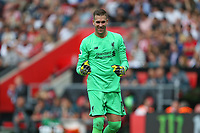Football - 2019 / 2020 Premier League - Southampton vs. Liverpool<br /> <br /> Adrian of Liverpool celebrates his sides second goal at St Mary's Stadium Southampton<br /> <br /> COLORSPORT/SHAUN BOGGUST