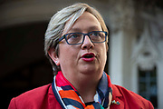 Joanna Cherry QC MP - SNP MP for Edinburgh South West is interviewed outside the Supreme Court on day one of the hearing to rule on the suspension of parliament, on September 17th 2019 in London, United Kingdom.  Supreme Court judges will decide if Prime Minister Boris Johnson acted unlawfully in advising the Queen to prorogue parliament.