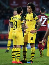 18.02.2019, 22.Spieltag, 1.Bundesliga, 1.FC Nuernberg vs BVB Dortmund, Max Morlock Stadion Nuernberg, Fussball ,Sport im Bild:.. Paco Alcacer (BVB)  und Axel Witsel (BVB)..DFL REGULATIONS PROHIBIT ANY USE OF PHOTOGRAPHS AS IMAGE SEQUENCES AND / OR QUASI VIDEO...Copyright: Philippe Ruiz..Tel: 089 745 82 22.Handy: 0177 29 39 408.e-Mail: philippe_ruiz@gmx.de (Credit Image: © Philippe Ruiz/Xinhua via ZUMA Wire)