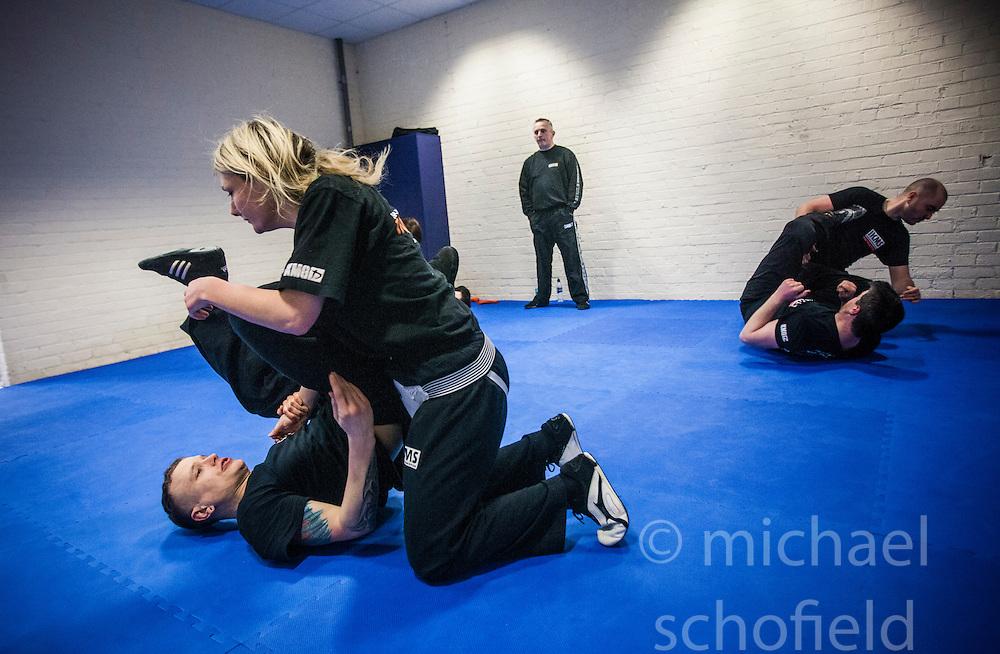 Institute of Krav Maga Scotland instructor training this morning, Alloa..©Michael Schofield.