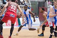San Pablo Burgos Goran Huskic and Gipuzkoa Basket Kenny Chery during Liga Endesa match between San Pablo Burgos and Gipuzkoa Basket at Coliseum Burgos in Burgos, Spain. December 30, 2017. (ALTERPHOTOS/Borja B.Hojas)
