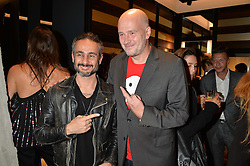 Left to right, ARA VARTANIAN and JAKE CHAPMAN at a party to celebrate the opening of the jeweller Ara Vartanian's Flagship Store 44 Bruton Place, London on 7th September 2016.