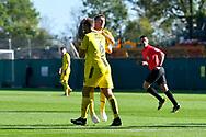 Goal - Kyle McFadzean (5) of Burton Albion celebrates scoring a goal to make the score 1-1 during the EFL Sky Bet League 1 match between Plymouth Argyle and Burton Albion at Home Park, Plymouth, England on 20 October 2018.