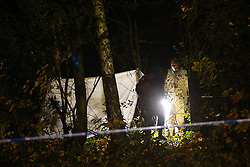 © Licensed to London News Pictures. 14/11/2020. Manchester, UK. Scene on Williams Road in Moston where it's understood a women's body was found on fire earlier this evening (Saturday 14th November 2020) . Photo credit: Joel Goodman/LNP