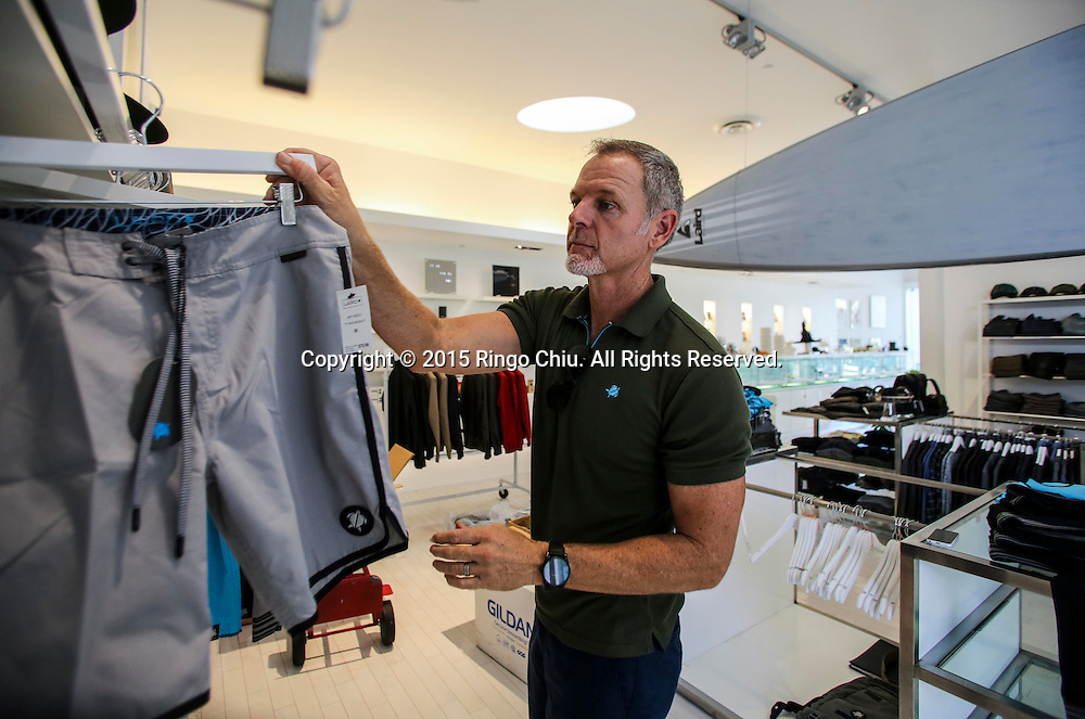 Tim Garrett, president of Laird Apparel at his new Laird Apparel clothing store in Santa Monica.(Photo by Ringo Chiu/PHOTOFORMULA.com)<br /> Usage Notes: This content is intended for editorial use only. For other uses, additional clearances may be required.