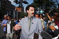 Sacha Baron Cohen, in character as Borat Sagdiyev