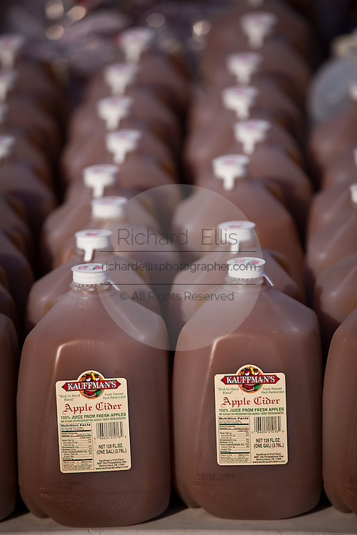 Amish made apple cider at the Annual Mud Sale to support the Fire Department  in Gordonville, PA.