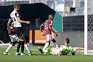 Younousse SANKHARE (Girondins de Bordeaux) scored a goal against Alexandre LETELLIER (SCO Angers) and celebrated it, Romain THOMAS (SCO Angers), Alexandre MENDY (Girondins de Bordeaux) during the French championship L1 football match between SCO Angers and Bordeaux on August 6th, 2017 at Raymond-Kopa stadium, France - PHOTO Stéphane Allaman / ProSportsImages / DPPI