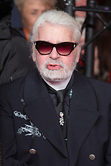Karl Lagerfeld attends the Christmas Lights Launch In Paris - 22 Nov 2018