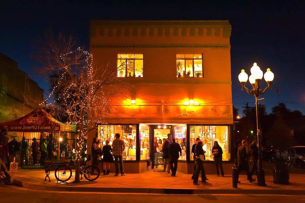 Grace Gallery Fine Art, 9th Avenue and Santa Fe Drive in the Art District on Santa Fe, Denver, Colorado USA