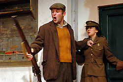 HARVEST <br /> Royal Court Theatre<br /> Press photocall September 14th, 2005 <br /> <br /> l to r <br /> Mike Burnside<br /> Claire Lams