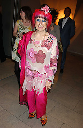 ZANDRA RHODES at a cocktail party hosted by MAC cosmetics to kick off London Fashion Week at The Hospital, 22 Endell Street London on 18th September 2005.At the event, top model Linda Evangelista presented Ken Livingston the Lord Mayor of London with a cheque for £100,000 in aid of the Loomba Trust that aims to privide education to orphaned children through a natural disaster or through HIV/AIDS.<br /><br />NON EXCLUSIVE - WORLD RIGHTS