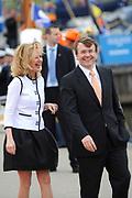 Koninginnedag 2008 / Queensday 2008. <br /> <br /> Koningin Beatrix viert Koninginnedag dit jaar in Friesland. De vorstin en haar familie bezochten op 30 april Makkum en Franeker.<br /> <br /> Queen Beatrix celebrates Queensday this year in Friesland (the Nothren provice in Holland). The Queen and its family visited Makkum and Franeker on 30 April.<br /> <br /> Op de foto/ On the Photo:<br /> <br /> Princes Mabel and Prince Friso