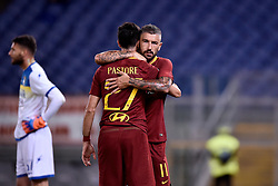 September 26, 2018 - Rome, Rome, Italy - Javier Pastore of AS Roma celebrates scoring second goal during the Serie A match between Roma and Frosinone at Stadio Olimpico, Rome, Italy on 26 September 2018. (Credit Image: © Giuseppe Maffia/NurPhoto/ZUMA Press)
