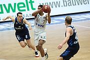Basketball: Deutschland, 1. Bundesliga, Hamburg Towers -  Alba Berlin, Hamburg, 23.03.2021<br /> Marcus Erikkson (Alba, l.) - Kameron Taylor (Towes)<br /> © Torsten Helmke