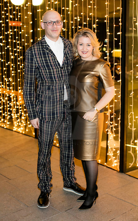 ***Repro Free*** 26/11/2016:  Karen Hennessy, Chief Executive of Irish Design 2015 (ID2015) and Alex Milton pictured at the 17th annual IDI Design Awards which took place on Thursday, 26th November in the Marker Hotel, Dublin. Guests enjoyed a drinks reception provided by Peroni Nastro Azzurro, followed by the presentation of 25 awards across a range of categories, representing the very best of Irish design this year. Picture Andres Poveda