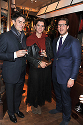Left to right, JASON DE SAVARY, ? & ? at a party hosted by TLC to celebrate signing their 5000th member and Ralph Lauren to celebrate the opening of the first Ralph Lauren Rugby store in the UK at 43 King Street, Covent Garden, London on 30th November 2011.