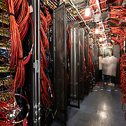 IceCube Laboratory computer racks and cabling from the DOM's to the computers