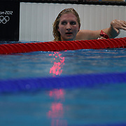 Rebecca Adlington, Great Britain, in action during the Women's 400m Freestyle heats during the swimming heats at the Aquatic Centre at Olympic Park, Stratford during the London 2012 Olympic games. London, UK. 29th July 2012. Photo Tim Clayton