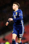 Scotland midfielder Ryan Christie (10) (Celtic) during the UEFA Nations League match between Scotland and Israel at Hampden Park, Glasgow, United Kingdom on 20 November 2018.