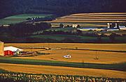 Airplane lands on farmland, Dauphin Co., PA