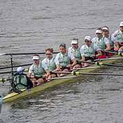 Official practice start , Cambridge Women , Tricia Smith, bow , Sophie Deans, 2 (front nearest camera) , Laura Foster, 3 , Larkin Sayre, 4 , Kate Horvat, 5 , Pippa Whittaker, 6 , Ida Gortz Jacobsen, 7 , Lily Lindsay, stroke , Hugh Spaughton, cox <br /> <br /> Crews prepare for Sunday's 165th Boat Race between Oxford and Cambridge, River Thames, London, Friday 5th April 2019. © Copyright photo Steve McArthur / www.photosport.nz