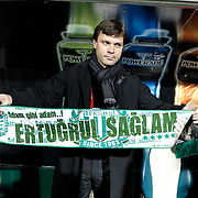 Bursaspor's coach Ertugrul SAGLAM during their Turkish soccer super league match Bursaspor between Ankaragucu at Ataturk Stadium in Bursa Turkey on Monday, 21 March 2011. Photo by TURKPIX