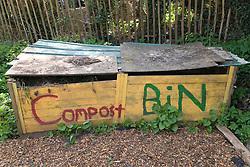 Compost bin at allotments,