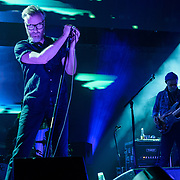 WASHINGTON, DC - December 5th, 2017 - Matt Berninger and Scott Devendorf of The National perform at The Anthem in Washington, D.C.  The band released their  seventh album, Sleep Well Beast, in September. (Photo by Kyle Gustafson / For The Washington Post)