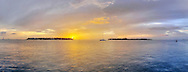 Sunset seen from Mallory Square, Key West, FL 7/25/2010. GigaPixel Image.<br /> Print Size (in inches): 15x5.5; 24x9; 36x14; 48x18; 60x23; 72x27.5