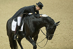 Barbancon Mestre Morgan, (ESP), Painted Black <br /> Kur<br /> Reem Acra FEI World Cup™ Dressage Final<br /> Las Vegas 2015<br />  © Hippo Foto - Dirk Caremans<br /> 18/04/15