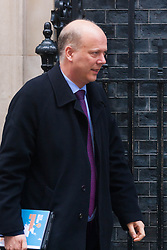 London, February 3rd 2015. Members of the cabinet gather at Downing Street for their weekly meeting. PICTURED: Chris Grayling, Lord Chancellor and Secretary of State for Justice