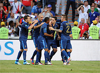 Fotball , 11. juni 2012 , Euro , England - Frankrike<br /> 1:1 Jubel v.l. Yohan Cabaye, Karim Benzema, Patrice Evra,  Samir Nasri, Mathieu Debuchy <br /> Norway only