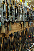 Confiscated & decommissioned poacher's weapons<br /> Mbomo African Park's Congo Headquarters<br /> Odzala - Kokoua National Park<br /> Republic of Congo (Congo - Brazzaville)<br /> AFRICA