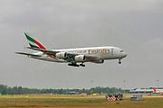 A6-EDO Emirates Airways Airbus A380-800 at Malpensa (MXP / LIMC), Milan, Italy