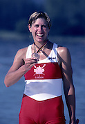Barcelona, SPAIN.  CAN W1X,  Silken LAUMANN,  1992 Olympic Rowing Regatta Lake Banyoles, Catalonia [Mandatory Credit Peter Spurrier/ Intersport Images]