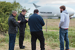 May 9, 2017 - Bedford, Beds, United Kingdom - Image ©Licensed to i-Images Picture Agency. 09/05/2017. Bedford, United Kingdom. Airlander 10 Test Flight Cancelled. Public gathers to watch the test flight.  Cardington. Picture by Terry Harris / i-Images (Credit Image: © Terry Harris/i-Images via ZUMA Press)