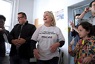 Susan Wild, Democratic candidate for Pennsylvania's new 7th Congressional District, speaks to supporters during a canvass launch event Nov. 3, 2018, at a campaign office in Allentown, Pennsylvania.