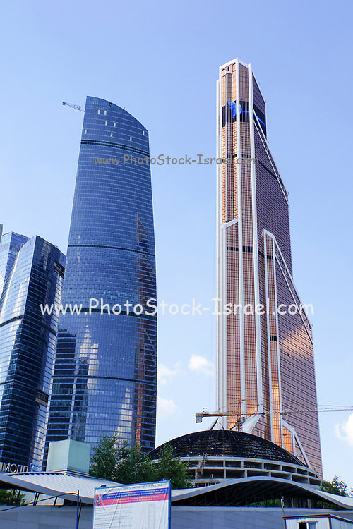 Modern highrise in Moscow, Russian Federation