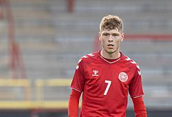 Andreas Olsen (Danmark) under U21 EM2021 Kvalifikationskampen mellem Danmark og Ukraine den 4. september 2020 på Aalborg Stadion (Foto: Claus Birch).