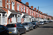 Terraced housing on Ombersley Road in Sparkbrook in Birmingham, United Kingdom. In architecture and city planning, a terraced or terrace house or townhouse exhibits a style of medium-density housing that originated in Europe in the 16th century, where a row of identical or mirror-image houses share side walls.