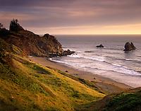Evening light on the Southern Oregon Coast USA