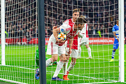 13-03-2019 NED: Ajax - PEC Zwolle, Amsterdam<br /> Ajax has booked an oppressive victory over PEC Zwolle without entertaining the public 2-1 / Klaas Jan Huntelaar #9 of Ajax, Nicolas Tagliafico #31 of Ajax