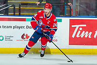 KELOWNA, BC - JANUARY 31: Ty Smith #24 of the Spokane Chiefs warms up on the ice with the puck against the Kelowna Rockets at Prospera Place on January 31, 2020 in Kelowna, Canada. Smith was selected in the first round of the 2018 NHL entry draft by the New Jersey Devils.  (Photo by Marissa Baecker/Shoot the Breeze)