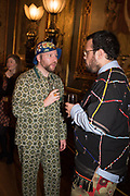 JAMES BUCK, LUKE BROOKS, , Stephen Jones private view for his exhibition at the Royal Pavilion, Brighton. 6 February 2019