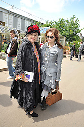 Left to right, LADY BONHAM-CARTER and her daughter actress HELENA BONHAM-CARTER at the RHS Chelsea Flower Show 2009 held inthe gardens of the Royal Hospital Chelsea on 18th May 2009.