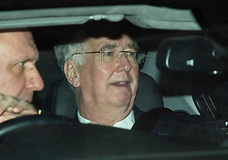 © Licensed to London News Pictures. 08/02/2016. London, UK. MICHAEL FALLON leaves The Brewery in London after the annual Conservative Party Black & White Ball, a Conservative Party fundraiser.  Photo credit: Ben Cawthra/LNP